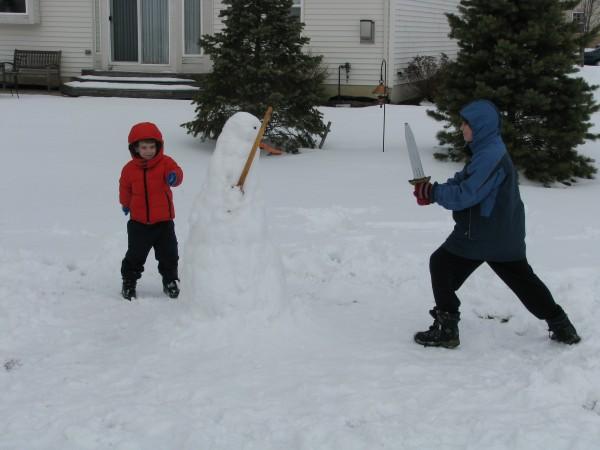 Kieran vs. Snowman