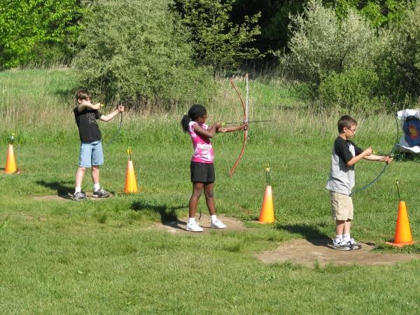 Kieran's 5th Grade Trip - Archery Aim