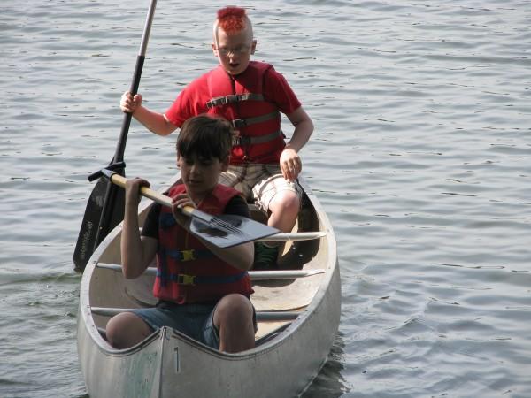 Kieran's 5th Grade Trip - Canoes