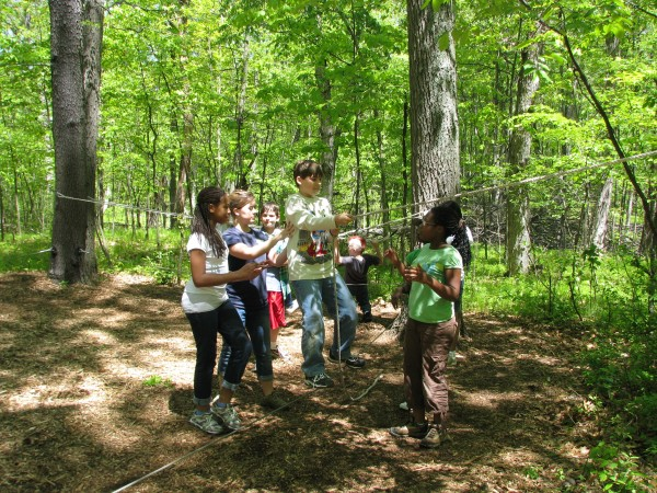 Kieran's 5th Grade Trip - Low Ropes 1