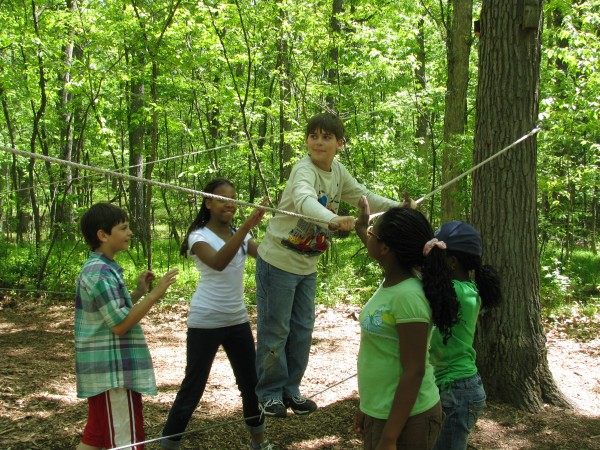 Kieran's 5th Grade Trip - Low Ropes 2