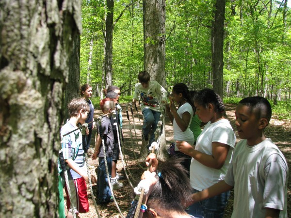 Kieran's 5th Grade Trip - Low Ropes 4