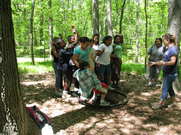 Kieran's 5th Grade Trip - Low Ropes 6