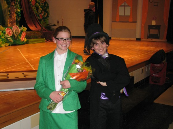 Willy Wonka and Mrs. Teevee