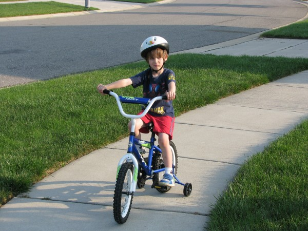 Owen On His Bike