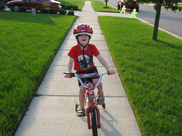 Declan On His Bike