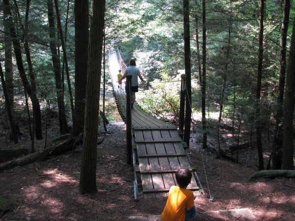 Cumberland Mountain State Park - Hiking Cable Bridge