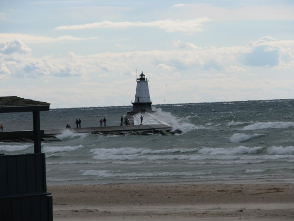 Waves Over the Ludington North Breakwater