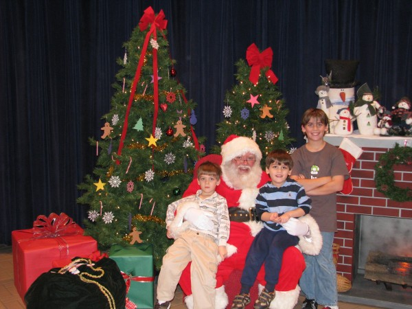 Boys With Santa At Childs