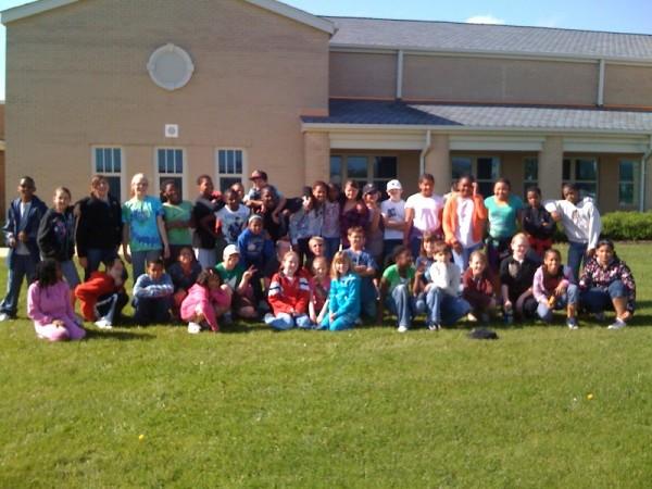 Kieran's 5th Grade Trip - Group Before Departure