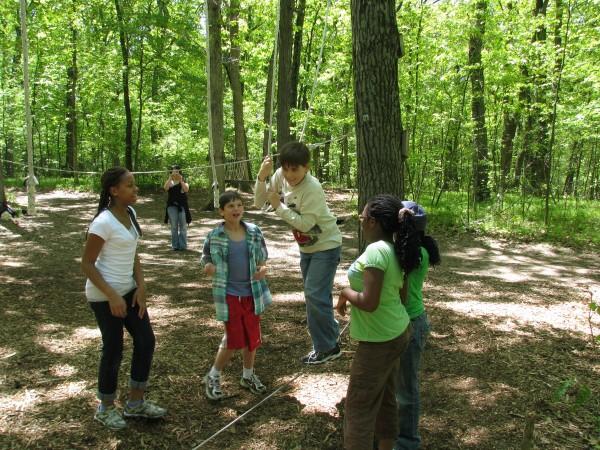 Kieran's 5th Grade Trip - Low Ropes 3