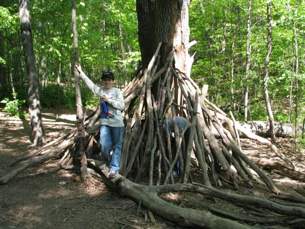 Kieran's 5th Grade Trip - Shelter Building 2