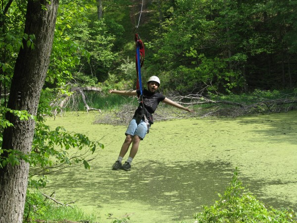 Kieran's 5th Grade Trip - End of the Zip Line
