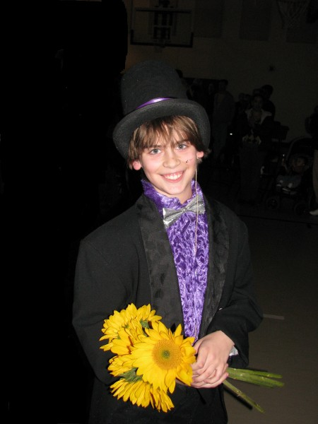 Kieran as Willy Wonka After a Performance
