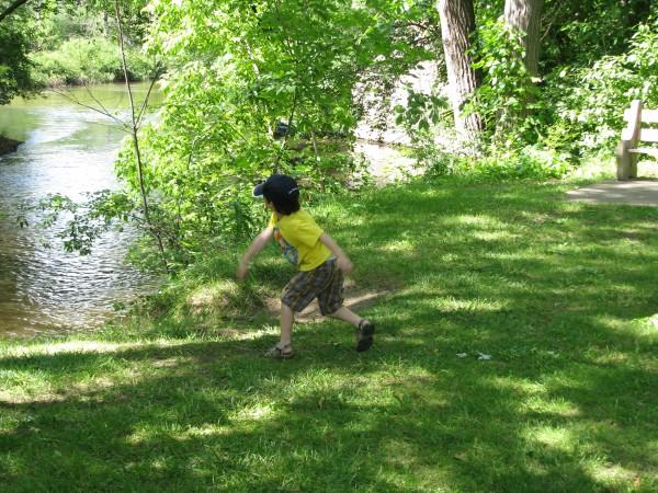 Declan Sticking it to the Creek