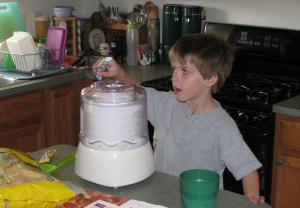 Owen Making Ice Cream