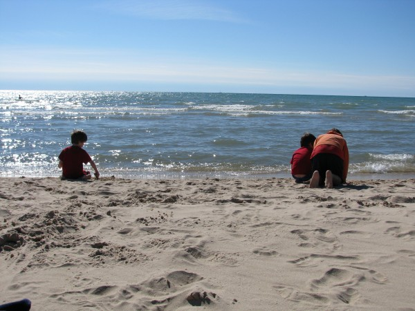 Lake Michigan Sand Play