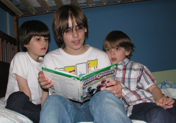Kieran Reads To His Brothers