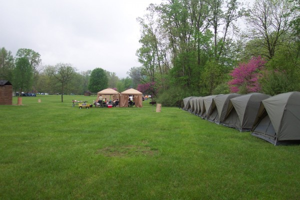 Tents In A Row