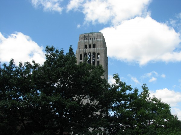 Burton Tower From Michigan League Window