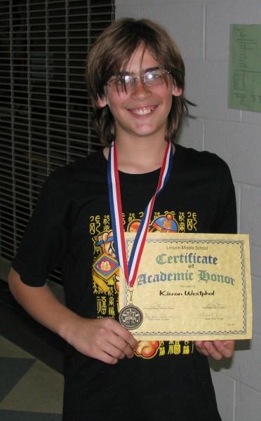 Kieran's 6th Grade Honor Assembly